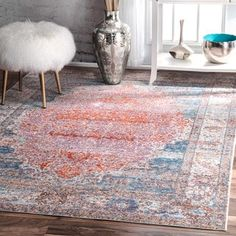 Shop for nuLOOM Vintage Floral Medallion Blush Orange Rug (9' x 12') and more for everyday discount prices at Overstock.com - Your Online Home Decor Store!