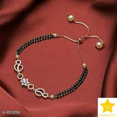 New Age Bracelet And Ring Mangalsutra Designs For 2020 Brides Mangalsutra Bracelet, Diamond Mangalsutra, Gold Mangalsutra Designs, Gold Bracelet Indian, Gold Bracelet For Women, Antique Jewellery Designs, Gold Jewellery Design, Diamond Jewellery, Indian Wedding Rings
