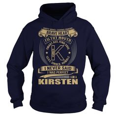 (Tshirt Perfect Design) KIRSTEN Last Name Surname Tshirt  Coupon 20%  KIRSTEN…