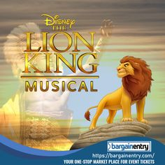 The Lion King Tickets Musical Tickets, Theater Tickets, Concert Tickets, Lion King Tickets, Sporting Event Tickets, Lion King Musical, Buy Tickets Online, Ticket Sales, Watch One