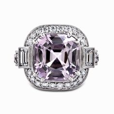 Pinkish-Purple Spinel Ring with White Diamonds  The star of this year's H Jewels 2012 Catalog is a 7.06 carat light pinkish-purple spinel ring accompanied by sixty-eight round ideal [...]