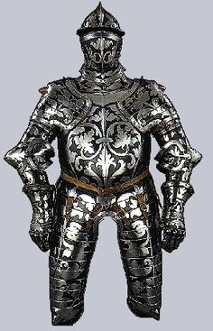 Floral Black and White Armour