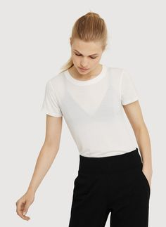 Straight Up Crew Tee   New Arrivals   Women   Kit and Ace USA