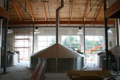 Lots of light in the new brewhouse!