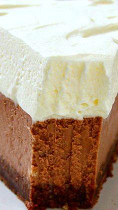 Milk Chocolate Cheesecake ~ Creamy and Rich