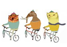 friends on bikes