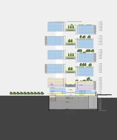 """Le Cinq"" Office Tower / Neutelings Riedijk Architects,section 06"
