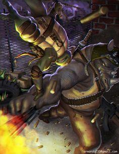 Michelangelo vs Rocksteady - Armando Batista