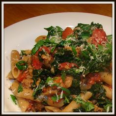 Fire Roasted Sausage and Kale Pasta - healthy, easy and great for leftovers.