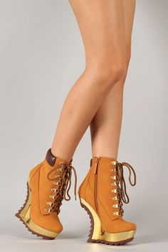 Bond Lace Up Heel Less Curved Wedge Bootie