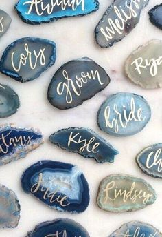Calligraphy has become extremely popular, it fits every type of wedding and looks timeless and elegant. Where can you use calligraphy? Literally everywhere!
