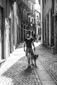 Leroy and I exploring the streets of Porto, Portugal.