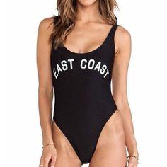 East Coast West Coast One Piece Swimsuit