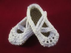 Winter White Criss Cross Handmade Crocheted 6-12 Month Old Baby Mary Jane Shoes/ Christmas Gift by LightsCameraCrochet on Etsy