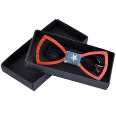 God Bless America....we really need it right now! Show your support for our nation with this patriotic Handmade Wooden Bow Tie. ON SALE for only $29.99