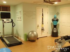 I WANT IN IN HOUSE GYM!!! DIY by Design: Home Gym Reveal and Giveaway