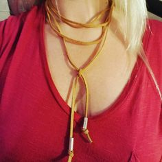 Check out this item in my Etsy shop https://www.etsy.com/listing/475744861/smile-triple-loop-choker-with-silver