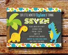 Free Printable Dinosaur Party Invitation from printablepartydecor ...