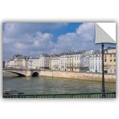 "ArtWall Cora Niele River Seine the Historical Center of Paris Removable Wall Decal Size: 32"" H x 48"" W x 0.1"" D"