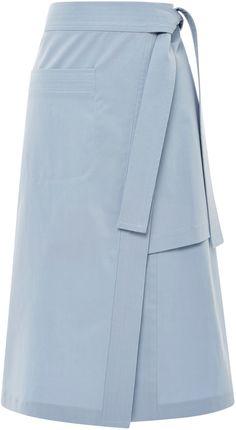 Suno Blue Layered Split Skirt