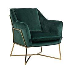 Aurelia Fauteuil Groen Balcony Furniture, Green Furniture, Pouf Design, Chair Design, Pink Accent Chair, Black Armchair, Richmond Interiors, Home Office Chairs, Tufted Sofa