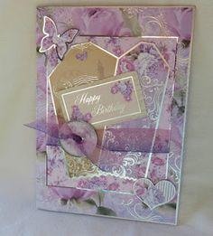 Dens Crafty Diary kanban lavender rose lilac roses parisian tags