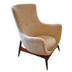 mid century scandinavian lounge chair