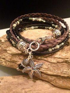 Boho Bracelet Beaded Boho Wrap Bracelet by BohoBlissCreations