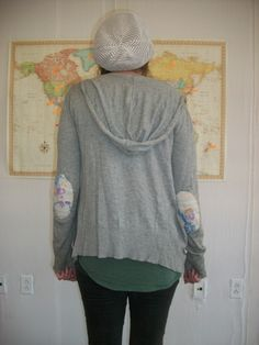 my boss has a sweater with patches on the elbows and i always thought it was the cutest thing. then i saw this photo a couple of weeks ago and a light bulb went on. this is an easy project! what …