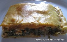 Empanada de acelgas y queso de cabra. Las recetas del marqués de muchabarba