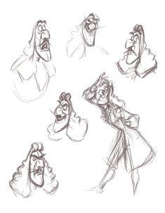 Captain Hook animation drawings by Frank Thomas from Peter Pan: A Sketchbook Series Disney Sketches, Disney Drawings, Drawing Disney, Disney Concept Art, Disney Art, Walt Disney, Character Design Disney, Animation Sketches, Poster Display