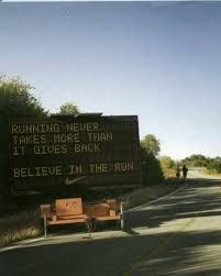 running never takes more than it gives