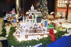 Vancouver's Hyatt Regency is home to Gingerbread Lane, a festive display of tasty-looking Christmas gingerbread creations in downtown Vancouver in December Gingerbread Village, Christmas Gingerbread, Christmas Tree, Christmas Ornaments, Vancouver Things To Do, Canada Holiday, Downtown Vancouver, Event Calendar, December