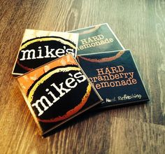 Mike's Hard Lemonade® Coasters Gift for by BriarBeachDesigns