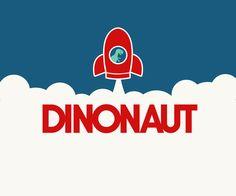 Dinos in the sky. Fun illustration. Rocket. Dinosaur. By Hey Lex https://www.pinterest.com/lexpastor/hey-lex-work/