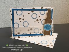 Stampin' Up! Bubble Over OnStage November 2017 present new stamp set bundle Bubble Over occasion catalogue Happy Birthday Cards, Birthday For Him, Bubble Bottle, Rubber Stamping Techniques, Stampin Up Cards, Men's Cards, Card Making Inspiration, Cardmaking, Masculine Cards