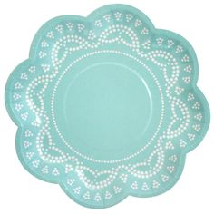 love these!! Party Plates - Aqua Lace Scallop @Stephanie Howell