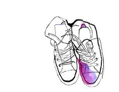 sneakers tennis shoes illustration fashion