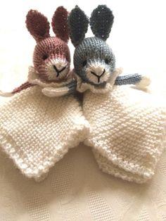 Bunny Mini Cuddly Baby Blankie - download the knitting pattern on LoveKnitting!