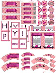 Demi-god/Percy Jackson Inspired/Greek God/ Half-Blood Themed Party Pack-Fashion Pink Aphrodite Demi-god Boy or Girl- Download
