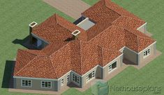 5 Bedroom Single Storey House Plan For Sale NethouseplansNethouseplans 4 Bedroom House Designs, 5 Bedroom House Plans, Garage House Plans, Family House Plans, Ranch House Plans, Craftsman House Plans, House Floor Plans, Design Bedroom, House Plans For Sale