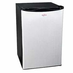 Best Dorm Room Refrigerators- Koolatron BC-130SS Kool 130-Quart-Capacity Compact Fridge, Silver (click for Top 5 List)