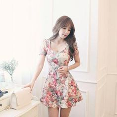 Buy 'DABAGIRL – Floral Print A-Line Mini Dress ' with Free International Shipping at YesStyle.com. Browse and shop for thousands of Asian fashion items from South Korea and more!