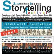 2nd Annual Boston Storytelling Festival - FREE Feb. 23, 2013 all day