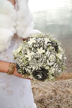 Paper Rose Bouquet Made to Order. $45.99, via Etsy.babysbreath with map paper flowers for BMs?