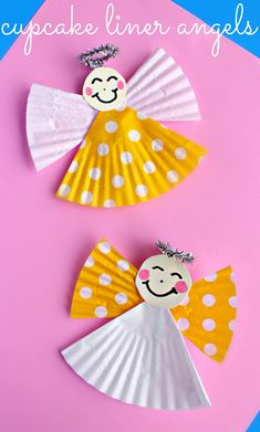 Cupcake Liner Angel Craft for Kids | CraftyMorning.com