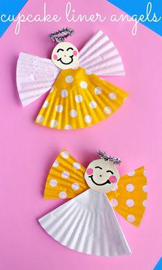 Cupcake Liner Angel Craft for Kids | CraftyMorning.com