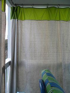 DIY Drop Cloth outdoor curtains