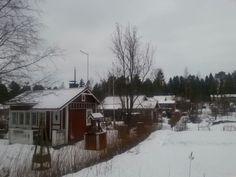 Siirtolapuutarhan talvea -Tullimäki Kokkola