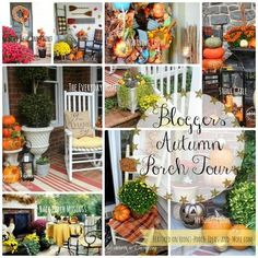 tour 25 fall porches, porches, seasonal holiday decor, wreaths, Tours of 23 Autumn Porches Featured on Front Porch Ideas and More